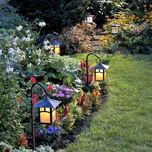 Lighting goes a long way when it comes to your flower beds.