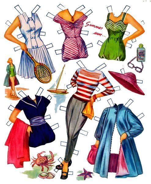 Boneca de papel da atriz Grace Kelly, com diversos modelos de roupas para vestir.          Compartilhar