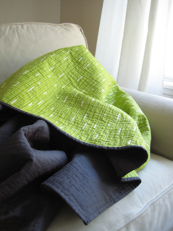 Love the colors of this whole cloth quilt
