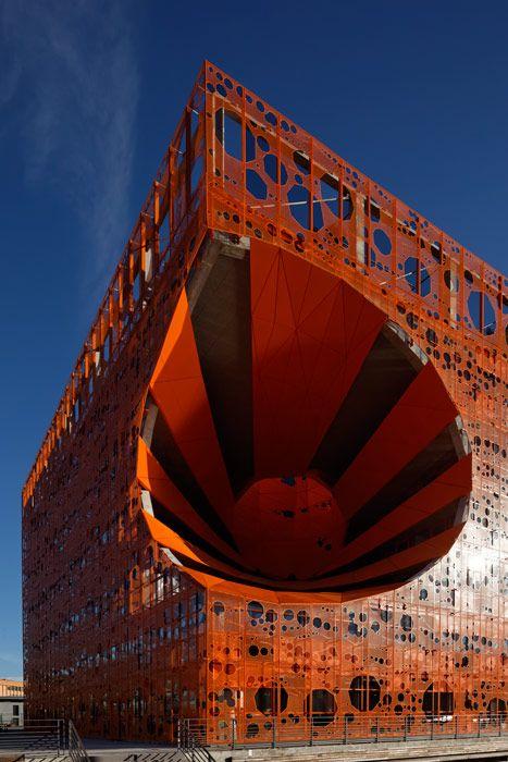 Orange Cube, Lyon, France by Jakob+MacFarlane Architects #architecture ☮k☮