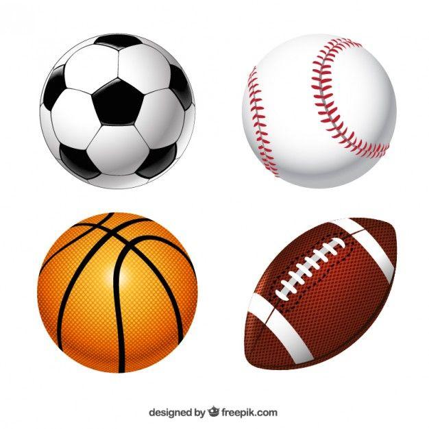 Colección de pelotas de deporte Vector Gratis