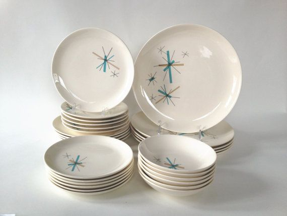 Vintage Salem China North Star / 27-Piece Dinnerware Set / Mid Century Atomic Starburst & 70 best Vintage Retro Dinnerware images on Pinterest | Vintage ...