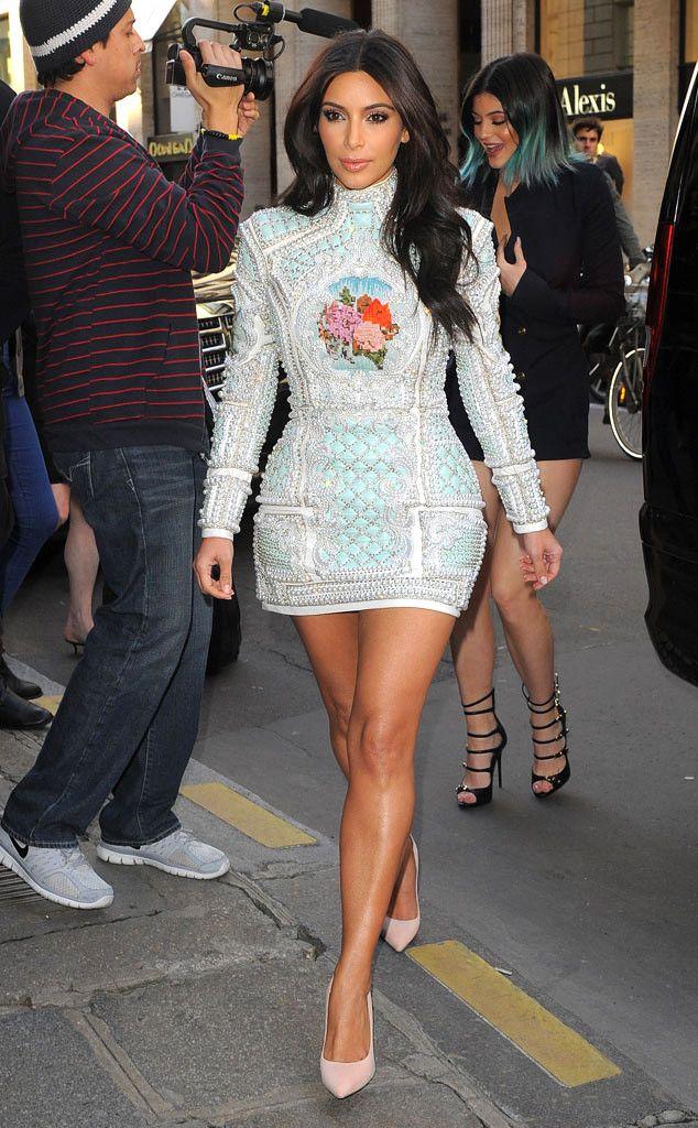 Vestidos de noche kim kardashian justin