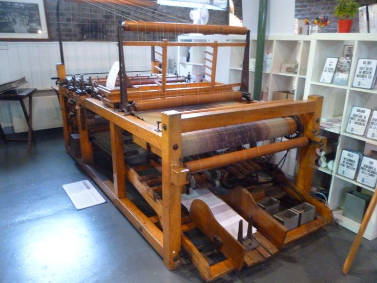 an old print machine used to make the lines on paper