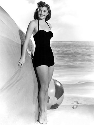 Esther Williams - 1950's     Swimwear is close to the heart for teenage swimming champion, Esther Williams. The star has even lent her name to a line of retro swimwear
