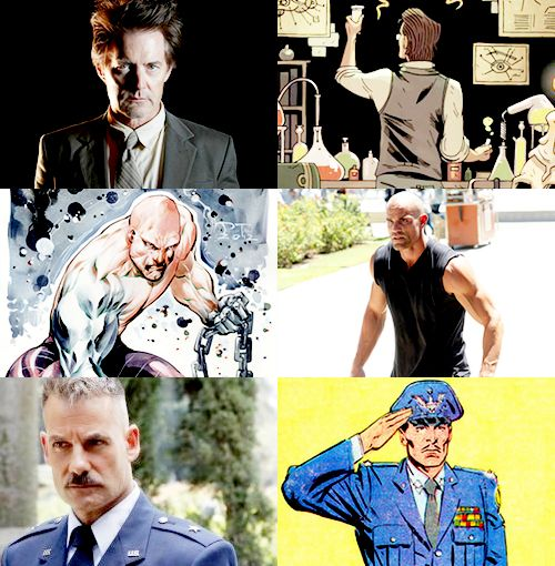 Agents of SHIELD show vs comics characters