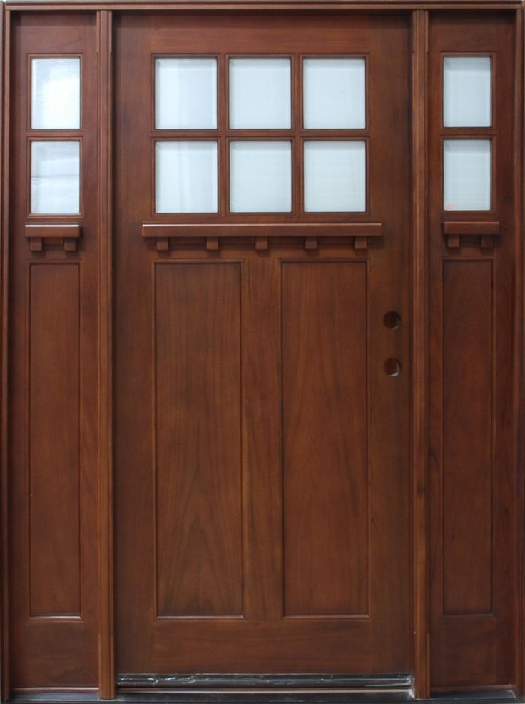 Discount Door Center Prehung and Prefinished Craftman Entry Door with Sidelights & 39 best front doors images on Pinterest | Entrance doors Craftsman ...