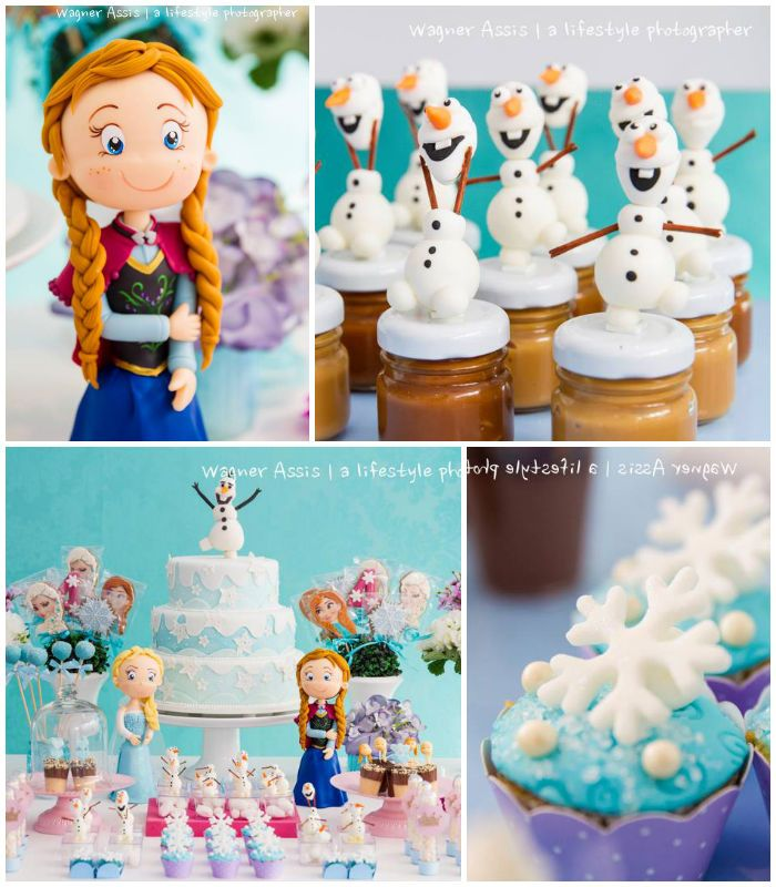 Frozen themed birthday party via Kara's Party Ideas KarasPartyIdeas.com Cakes, favors, printables, games, and more! #frozen #frozenparty #disneysfrozen #karaspartyideas (2)