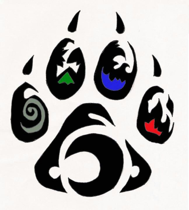 55 best native stuff images on pinterest bear paw tattoos bear wolf paw i just love this pic i cant wait to draw it and make it ccuart Images