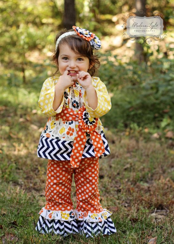 Fall Dresses For Little Girls Toddler girls ruffle pants and