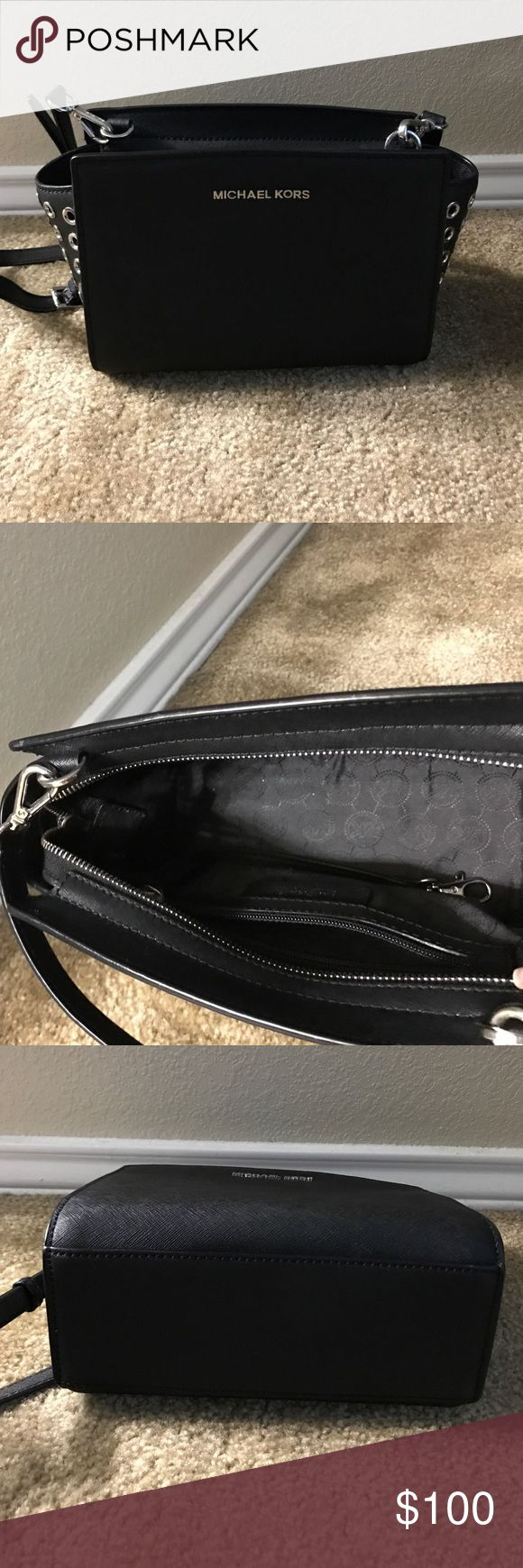 Michael Kors Selma handbag Micheal Kors 'Selma' small crossbody handbag. 100% Authentic great condition. Bags Crossbody Bags
