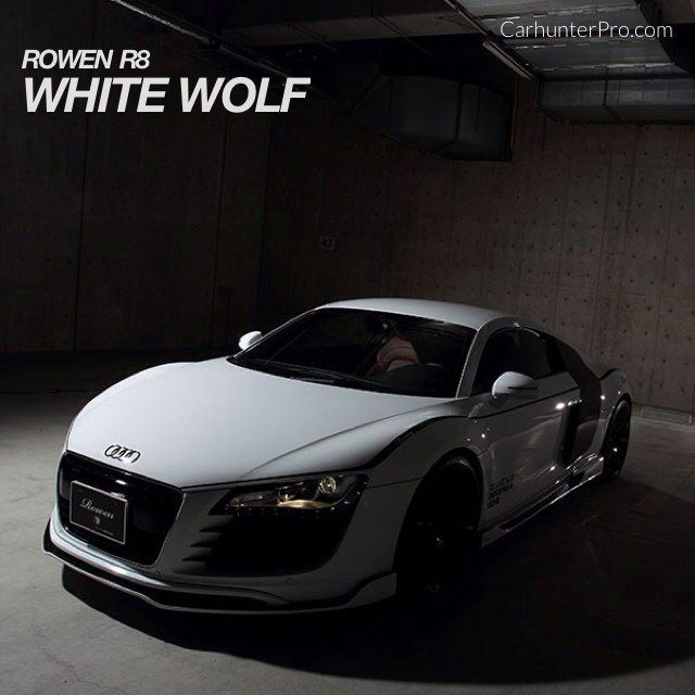 White Wolf Audi R8 - tuned by Rowen of Japan  http://www.carhunterpro.com/photo/CJdF7S6Ozi