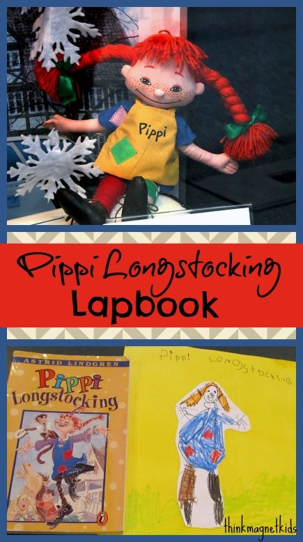 Oh Pippi, How I Had Missed You! Rereading Pippi Longstocking with my daughter and making a lapbook as we go. #thinkmagnetkids