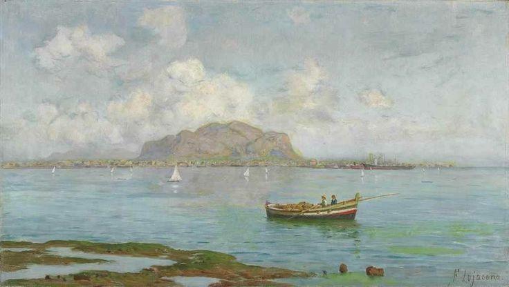 Il golfo di Palermo, con il Monte Pellegrino sullo sfondo Francesco Lojacono (1838-1915)