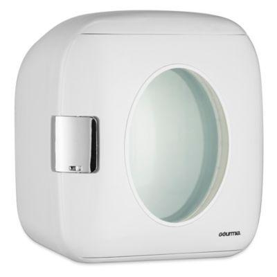 Gourmia Portable 12-Can Mini Fridge Cooler and Warmer in White…