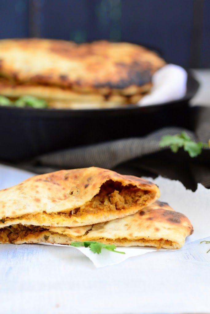 Keema Naan / Indian Naan Bread Stuffed with lamb Mince - Whisk Affair