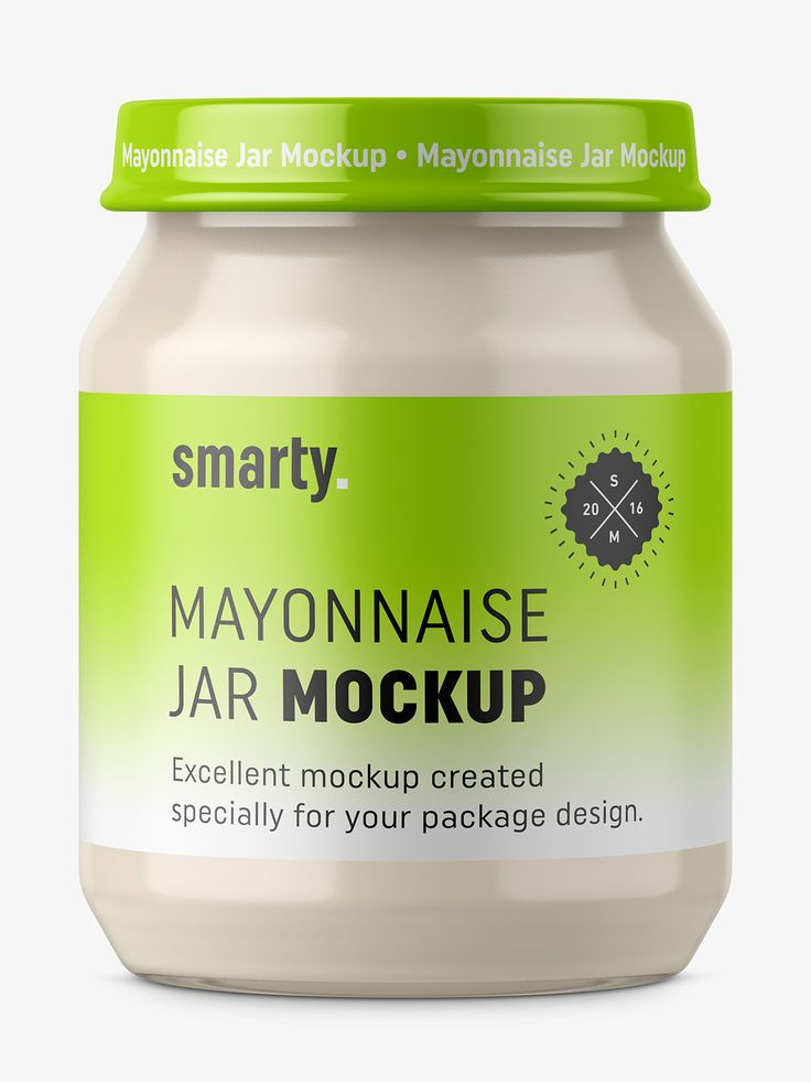 Mayonnaise jar mockup