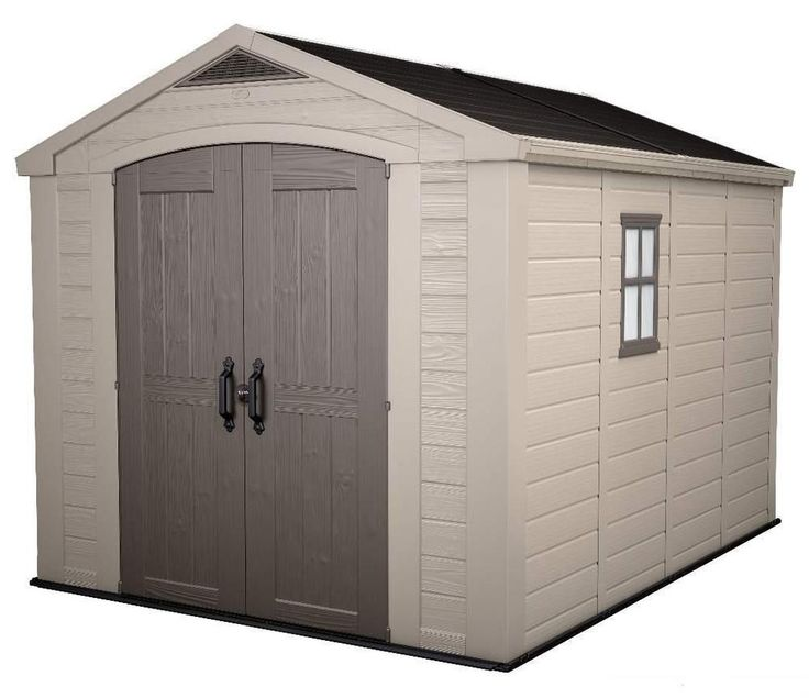 keter factor 8 x 11 plastic garden shedgarage storage free next day delivery - Garden Sheds Quick Delivery