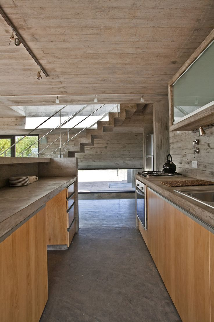 Beton and wood