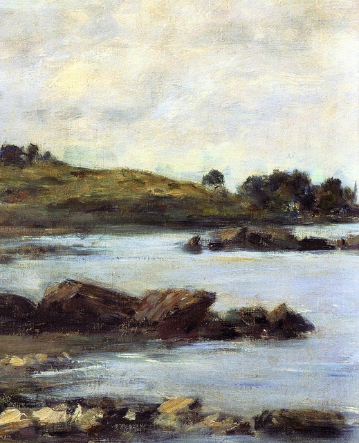Eugene Boudin - On the River Meuse at Kreeger Art Museum Washington DC