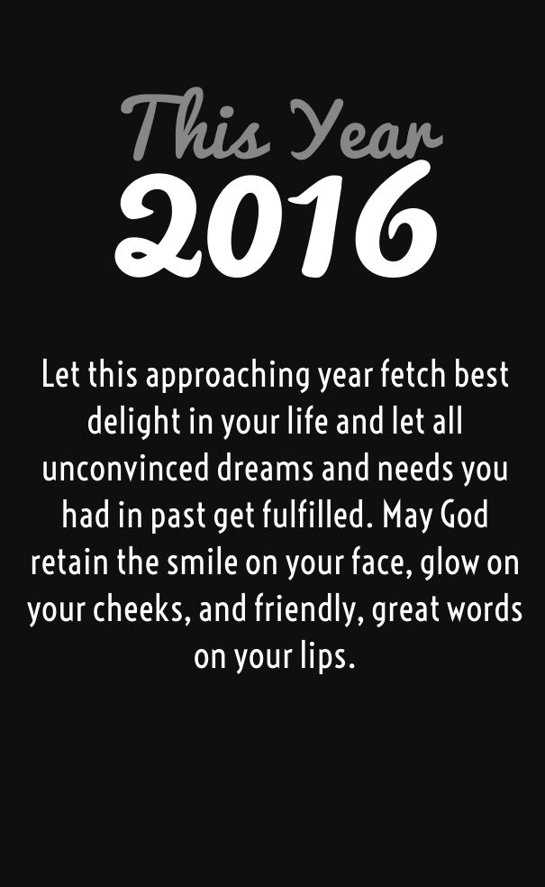 sayings for the new year wishes 2016