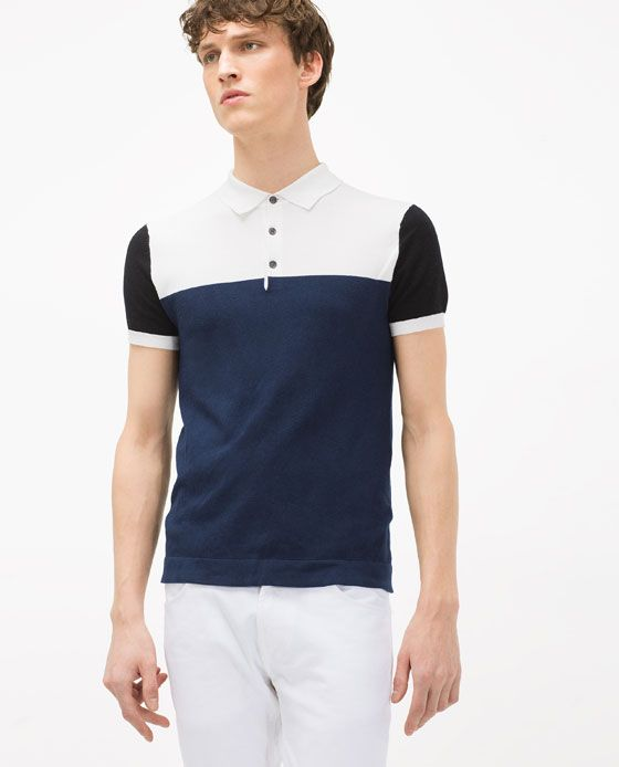 98 best images about polos on pinterest pique zara and for Polo color block shirt