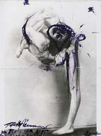 Ohne Titel by Arnulf Rainer and Dieter Roth