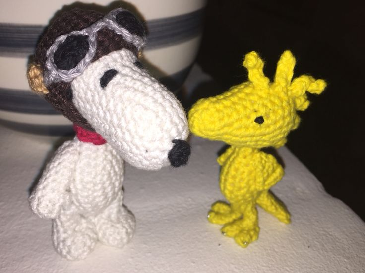 Snoopy and Woodstock crochet