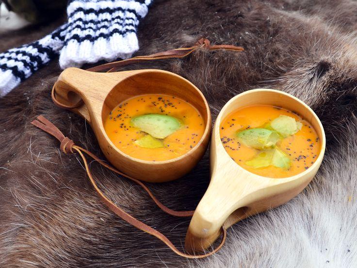 Morotssoppa med rå ingefära och avokado | Recept från Köket.se
