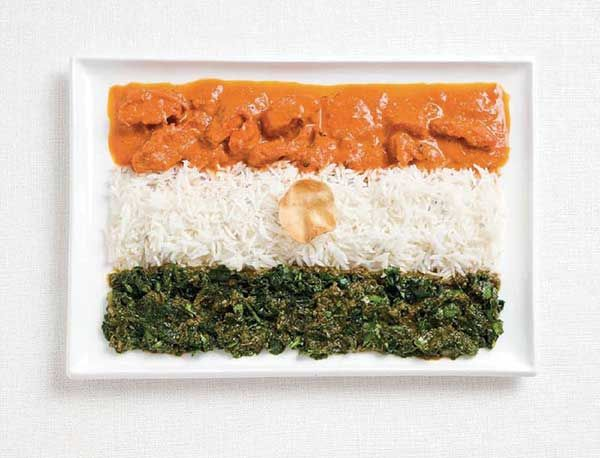 National flags traditional foods