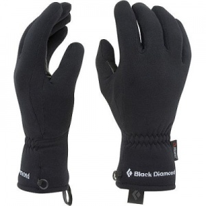 black diamond powerstretch gloves.  Fast drying, perfect thickness.  I usually have three pairs with me when climbing snow routes.