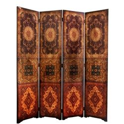 6 ft. Tall Olde-Worlde Baroque Room Divider Decorative Folding Screen