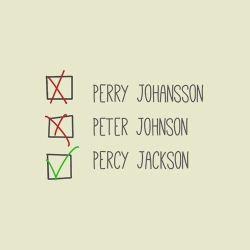 Percy Jackson. Hey guys did anyone else notice that in Mark of Athena, Bacchus/Dionysus called Jason Grace JOHN GREEN. Best thing ever. ~~ Yup!