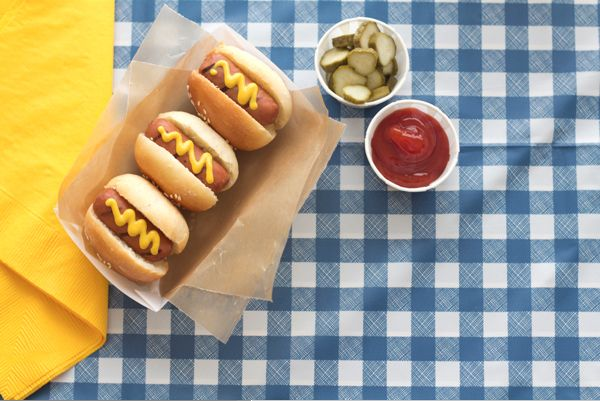 DIY Mini Hot Dogs and Food Containers on Oh Happy Day.