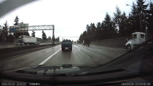 3/7/2016 Interstate 5 South Bound Accident in Rain, Seattle, Washington
