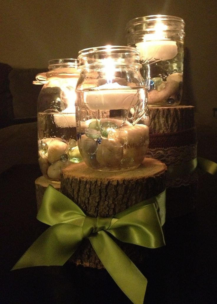 Homemade centerpieces wedding ideas pinterest