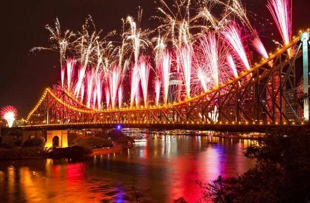 New Years Eve Fireworks in Brisbane