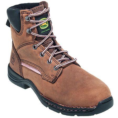 John Deere Women's JD3612 Brown Steel Toe EH Work Boots