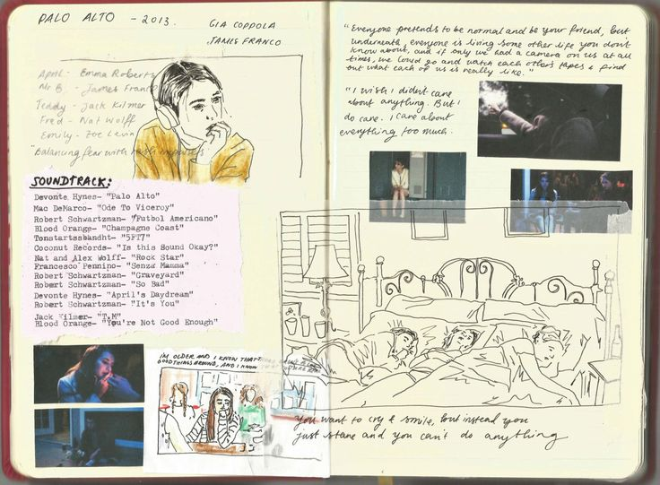 meganzoeee: Palo Alto pages in my film journal