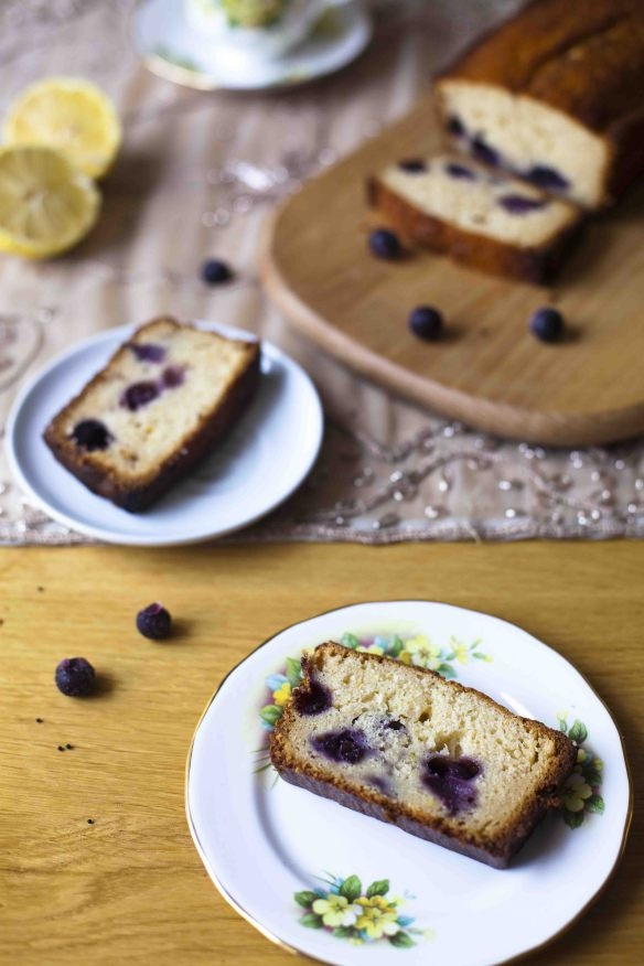 Luscious Lemon & Blueberry Loaf Cake, by Cakeboule. This looks like a great cake for springtime.