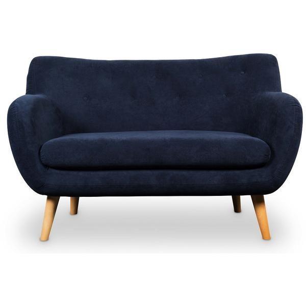 Unserer Klassiker im neuem Bezug. Modernes kuscheliges 2er Sofa, jetzt in samt-blau erhältlich.Wahlweise auch mit Bezug ivory erhältlich. BezugMarine blau Fü