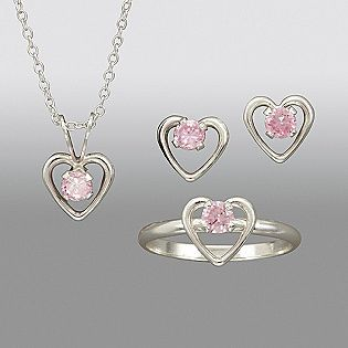 Sterling pink little girl's jewelry. Would like in birth stone