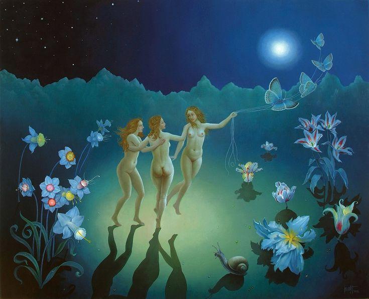 The Three Graces Oil On Canvas 66x81 Cm 2008 Copy 1
