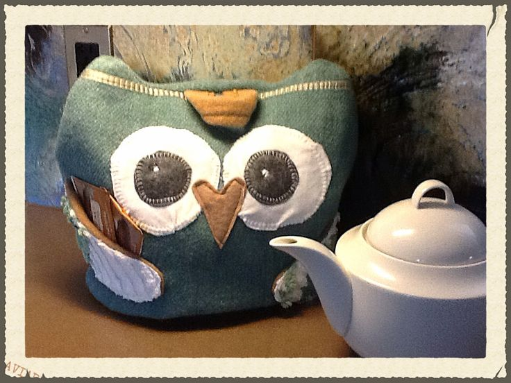 Owl tea pot cozy Upcycled wool blankets made into an adorable , unique and one of a kind tea pot cozy. Moxieandzab.com london ont See FB post By Debi Munce