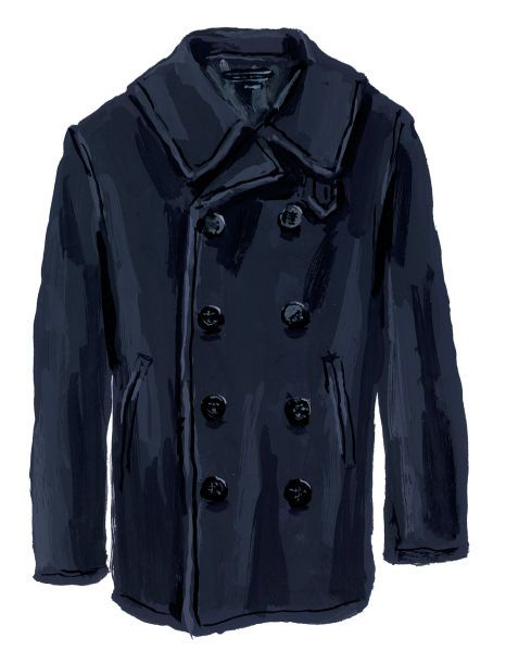 Wool Men's Peacoat - U.S. Navy Peacoat | The J. Peterman Company--http://www.jpeterman.com/Mens-Outerwear