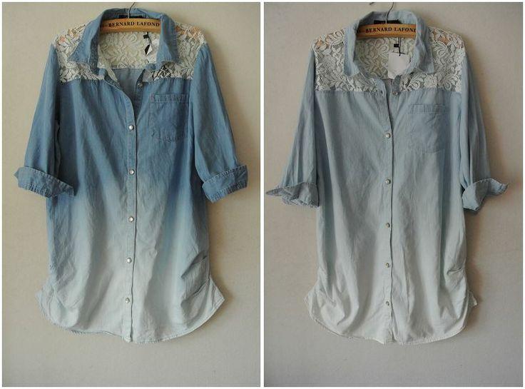 Джинсовая женская рубашка своими руками