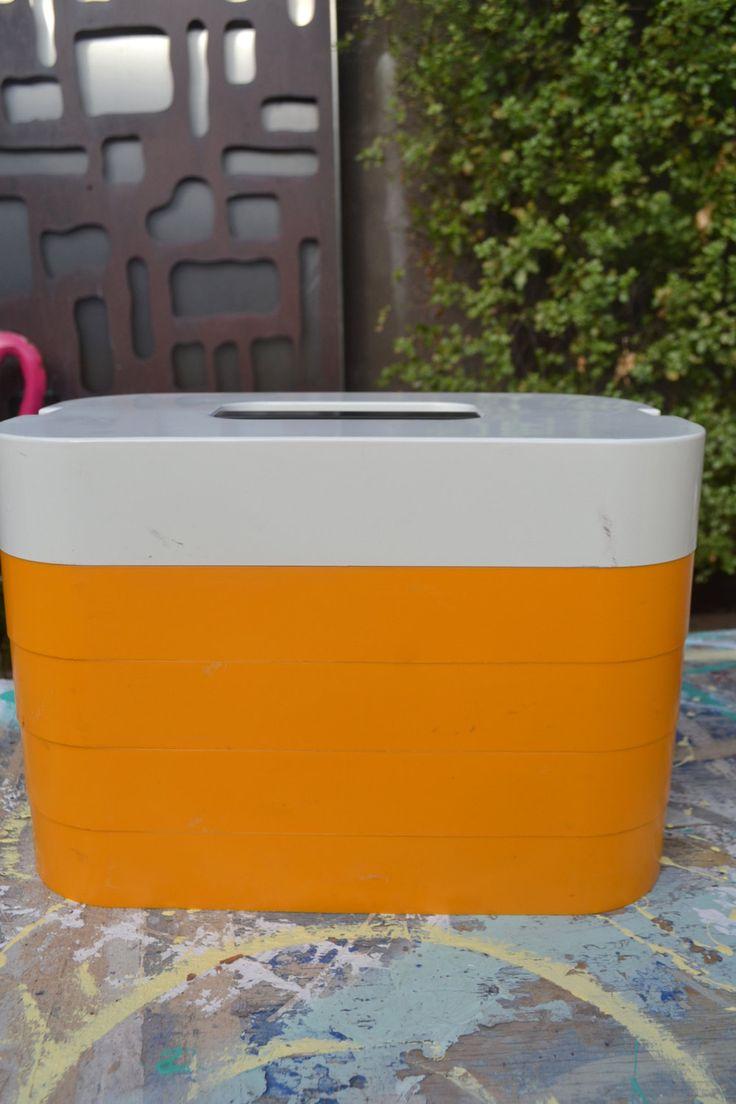"Vintage retro yellow Picnic set container caravan Kombi England hampa pak ""hampa Pak"" by retrovintageoddities on Etsy"