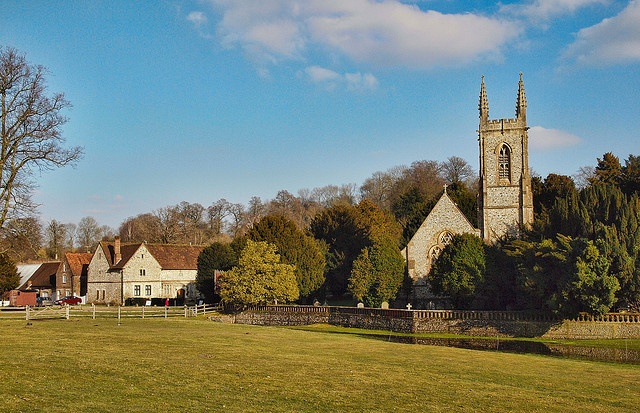 Chawton church in Hampshire, where Jane Austen's mother and sister are buried The church is in the grounds of Chawton House, the home of Jane Austen's Brother, Edward