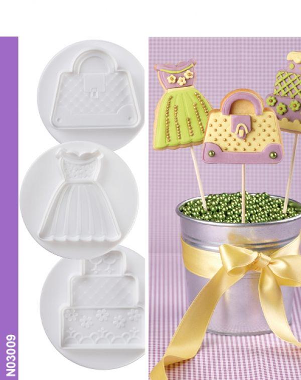 Dough/sugarpaste cutter for FASHION 3D set 3 pcs