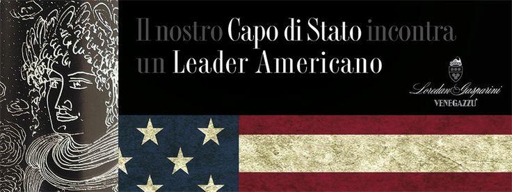 Il nostro Capo di Stato incontra un Leader Americano  #degustazione #capodistato #venegazzù #diamondcreek #napavalley #vino